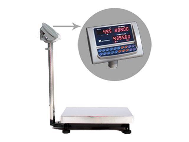 Напольные весы с ЖК дисплеем, памятью на 4 ценовых значения ВЭТ-60-1С-АБ/400х500