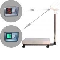 Напольные весы с памятью на 7 ячеек и определения стоимости товара ВЭТ-60-3С/300х400
