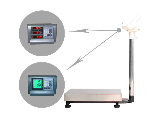 Напольные весы с памятью на 7 ячеек и определения стоимости товара ВЭТ-60-3С-АБ/400х500