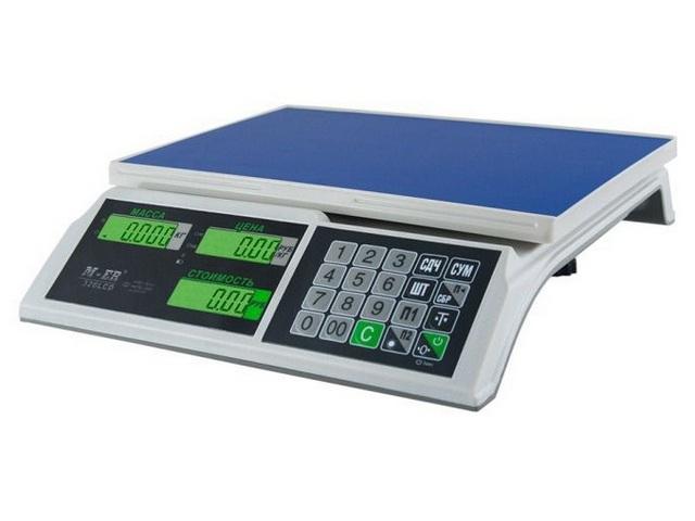 Торговые весы M-ER 326 АC-15.2 с АКБ без стойки LCD Slim