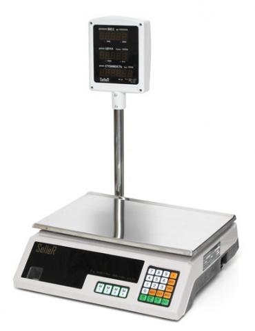 Торговые весы SL-202P-15 LCD v2